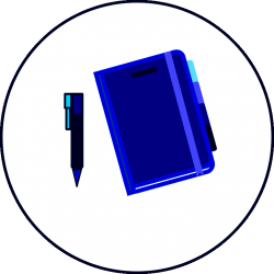 Notebook bleu